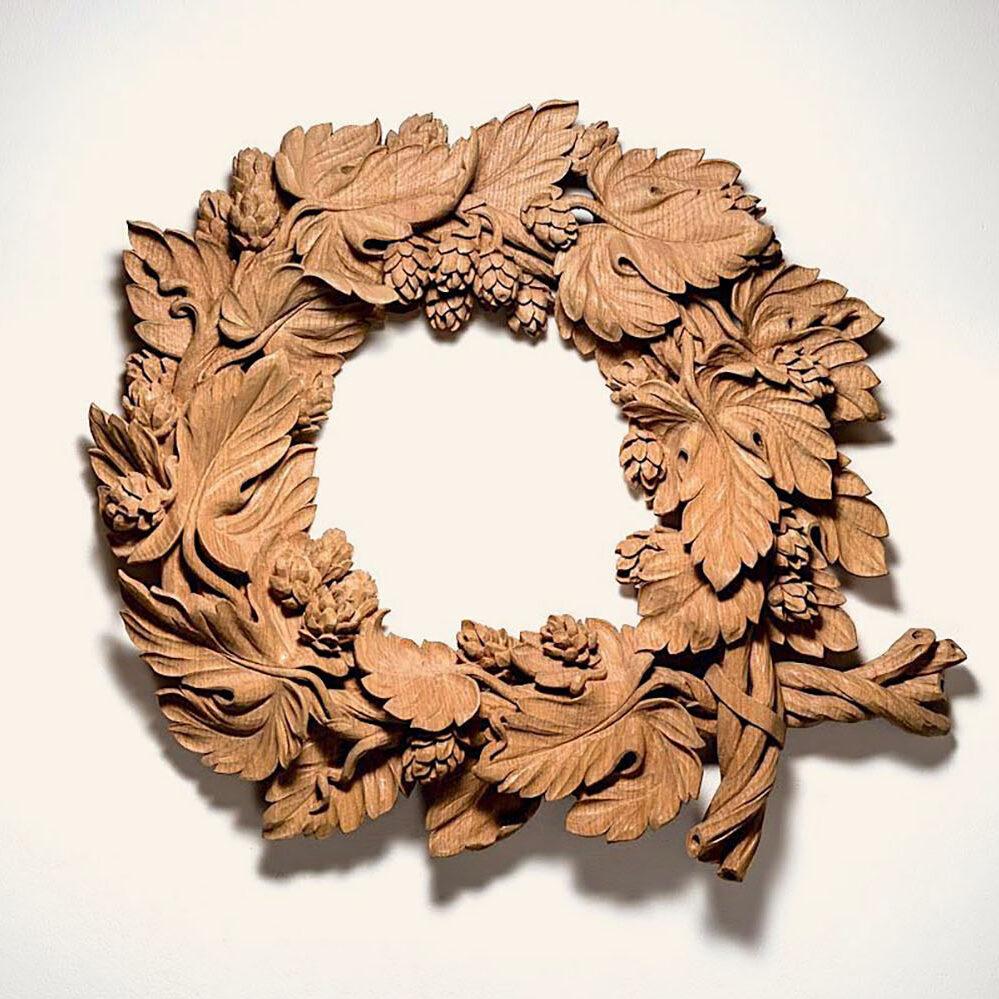 hop-wreath-carving-kent-william-barsley